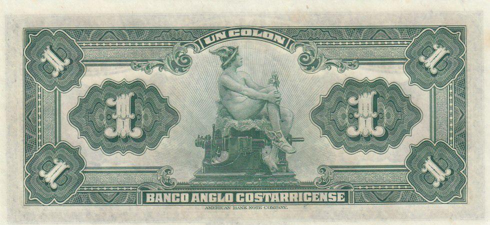 Costa Rica 1 Colon Homme - Mercure - 1917