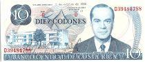 Costa Rica 10 Colones, Rodrigo Facio Benes - 1985