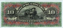 Costa Rica 10 Colones  Train  - Bank building - 1908