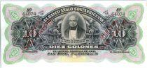 Costa Rica 10 Colones B. Carillo - Armoiries - 1903