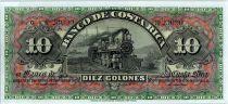 Costa Rica 10 Colones Train - Banque - 1908