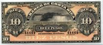 Costa Rica 10 Pesos Chutes du Niagara - Portrait  - 1899