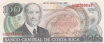 Costa Rica 100 Colones 1983 Ricardo Jiménez