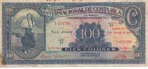 Costa Rica 100 Colones International de Costa Rica - 1942 - TB - P.194a