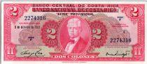 Costa Rica 2 Colones Joaquin Bernardo Calvo - San josé - 1967
