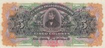 Costa Rica 5 Colones J.M. Fernandez - 1917