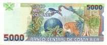 Costa Rica 5000 Colones Statuette - Toucan, léopard