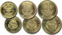 Costa Rica SET.2 Armoiries - Set 3 pièces - 2005-2006