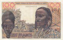 Côte d´Ivoire 100 Francs masque 1961 - Côte d\'ivoire - Série S.90