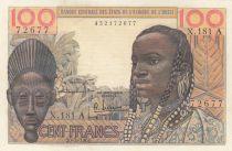 Côte d´Ivoire 100 Francs masque 1961 litho - Côte d\'ivoire - Série X.181