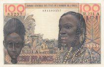 Côte d´Ivoire 100 Francs masque 1965 - Côte d\'ivoire - Série R.234