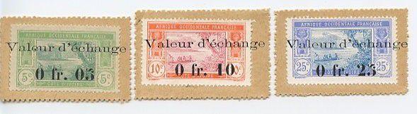 Côte d´Ivoire SET.1 0.4 F, Série Timbres Monnaies : 0.05 F-0.10 F- 0.25F