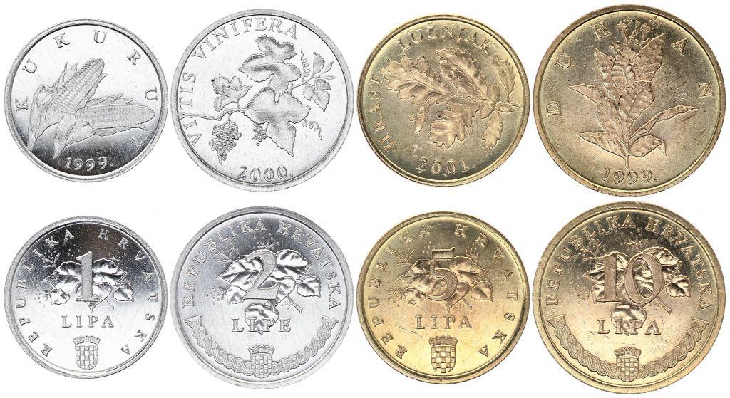 Croatia SET.1 Flora (Set 4 coins) 1999-2001