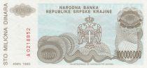 Croatie 100 000 000 Dinara 1993 - Armoiries, Château