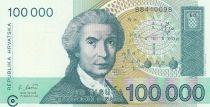 Croatie 100 000 Kuna 1991 - R. Boskovic, Statue