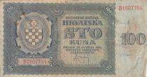 Croatie 100 Kuna 1941 - Bleu-gris, Armoiries - Série B1607764