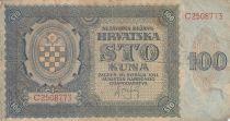 Croatie 100 Kuna 1941 - Bleu-gris, Armoiries - Série C2508773