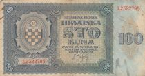 Croatie 100 Kuna 1941 - Bleu-gris, Armoiries - Série L2322795