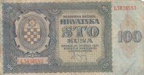 Croatie 100 Kuna 1941 - Bleu-gris, Armoiries - Série L3838553