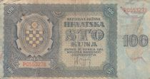 Croatie 100 Kuna 1941 - Bleu-gris, Armoiries - Série P0553278