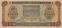 Croatie 1000 Kuna 1943 - TTB - P.12