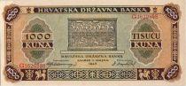 Croatie 1000 Kuna 1943 jeunes filles