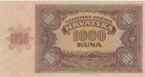 Croatie 1000 Kuna Jeune fille, paysage de montagne - 1941 - p.Neuf - P.4