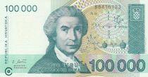 Croatie 100000 Dinara R. Boskovic - Cathédrale Zagreb - 1993 - Neuf  P.27