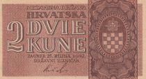 Croatie 2 Kune  Armoiries - 1942 - Neuf - P.8b