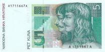 Croatie 5 Kuna F.K. Franko - P. Zrinski - 1993 - Neuf - P.28