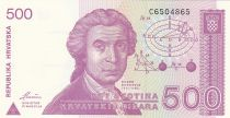 Croatie 500 Dinara R. Boskovic - Cathédrale Zagreb - 1991 - Neuf  P.21