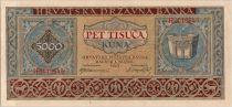 Croatie 5000 Kuna 1943
