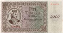 Croatie 5000 Kuna 1944 jeune femme