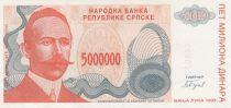 Croatie 500000 Dinara 1993 - Petar Koche, Armoiries