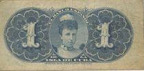Cuba 1 Peso Arms - Queen Maria Cristina