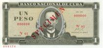 Cuba 1 Peso J. Marti - F. Castro 1959 - 1972