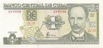 Cuba 1 Peso J. Marti - Maison famililale de J. Marti
