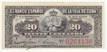 Cuba 20 Centavos 1897 - Récolte du sucre de canne