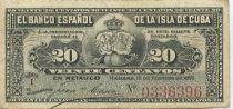 Cuba 20 Centavos Récolte du sucre de canne