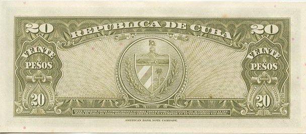 Cuba 20 Pesos Antonio Maceo - 1960 Sign. Che Guevara