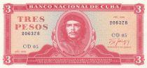 Cuba 3 Pesos Che Guevara - 1988
