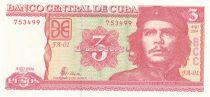 Cuba 3 Pesos Che Guevara - 2004