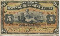 Cuba 5 Pesos Femme, bateaux