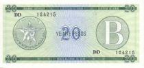 Cuba FX.9 20 Pesos, Série B - Real Fuerza