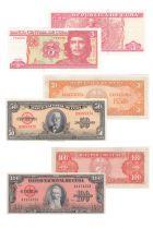 Cuba Série de 3 billets de Cuba - (1958 - 2004)