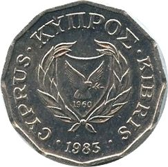 Cyprus 1/2 Cent Cyclamen
