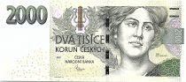 Czech Republic 2000 Korun Ema Destinova - UNC - P. 26