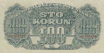 Czechoslovakia 100 Korun 1944 - Green - Serial AO - Specimen