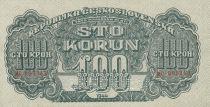 Czechoslovakia 100 Korun 1944 - Green - Serial MC - Specimen