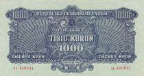 Czechoslovakia 1000 Korun 1944 - Blue - Serial AA, Specimen